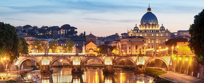 Rome Skyline Night