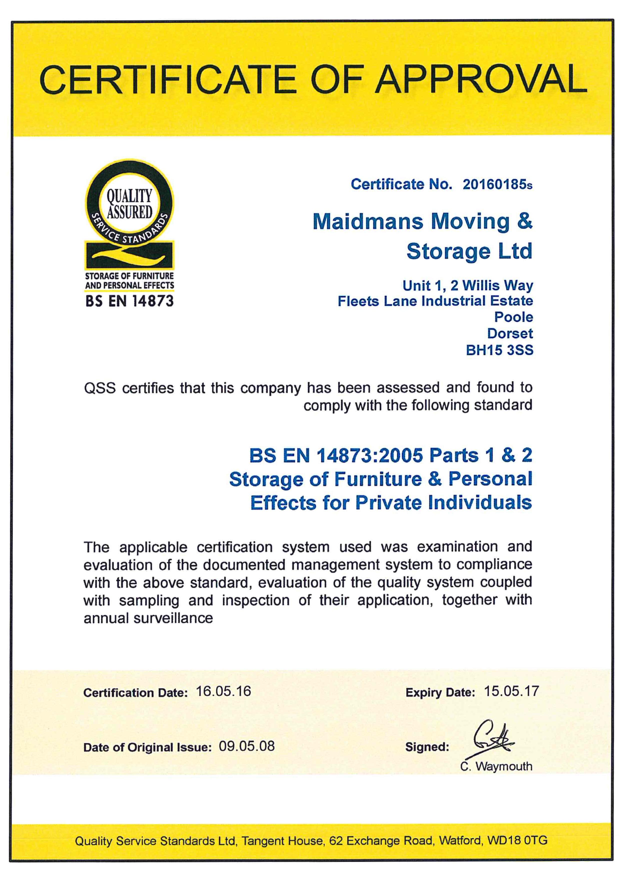 QSS BS EN 14873-2005