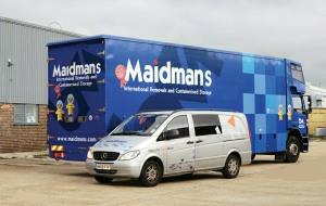estate agents hedge end maidmans.com van truck lined up image