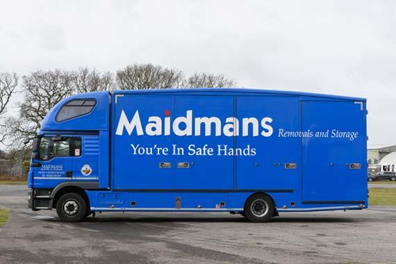 Maidmans Branded Blue Truck