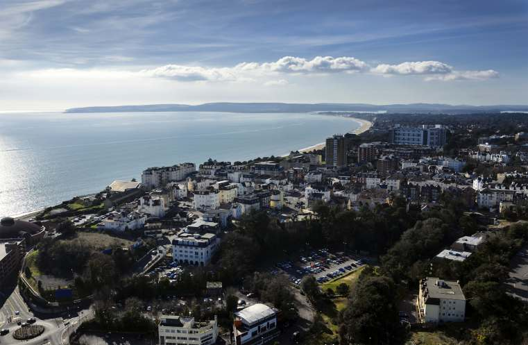 Aerial Vew of Bournemouth Town Center