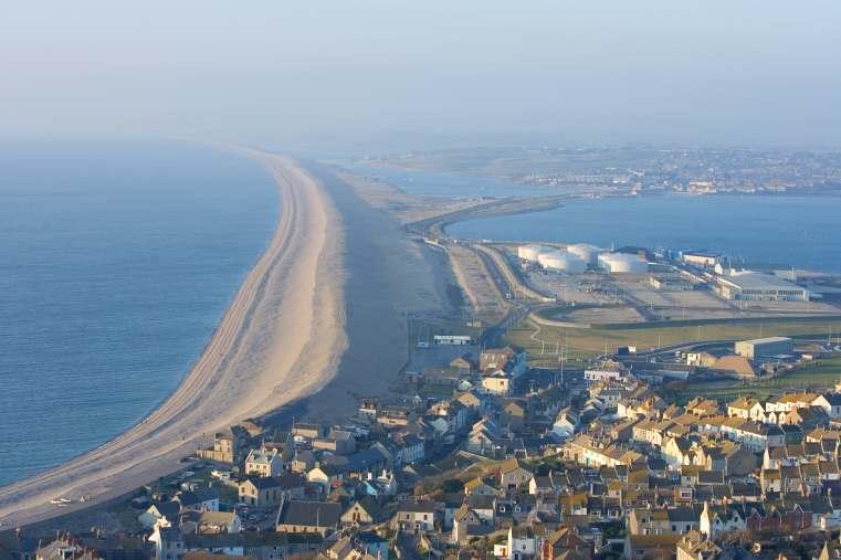 Chesil beach near portland Weymouth Dorset
