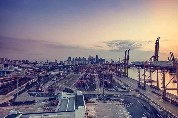 Cargo Shipping Port