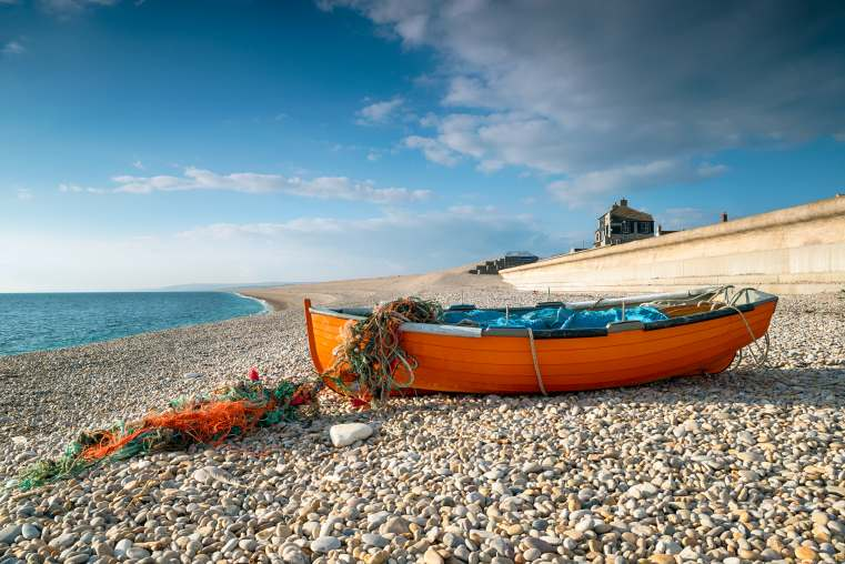 Fishing Boat on Chesil Beach near Weymouth