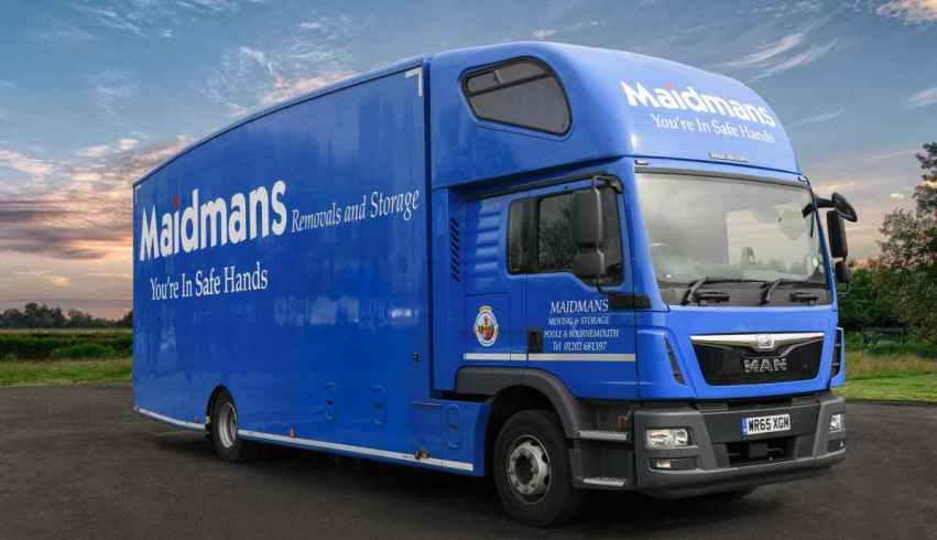 Maidmans liveried removals truck