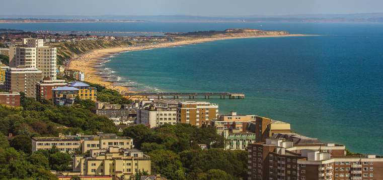 Ariel view of Bournemouth