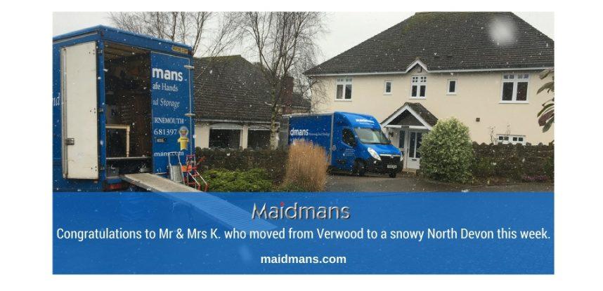 Verwood to North Devon Removals – Maidmans Moving & Storage