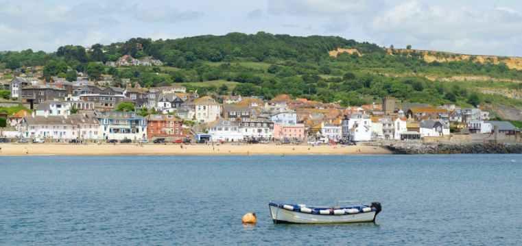 Lyme Regis beach front